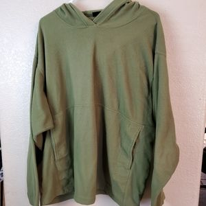 Patagonia Green Hoodie Micro Luxe Fleece Pullover